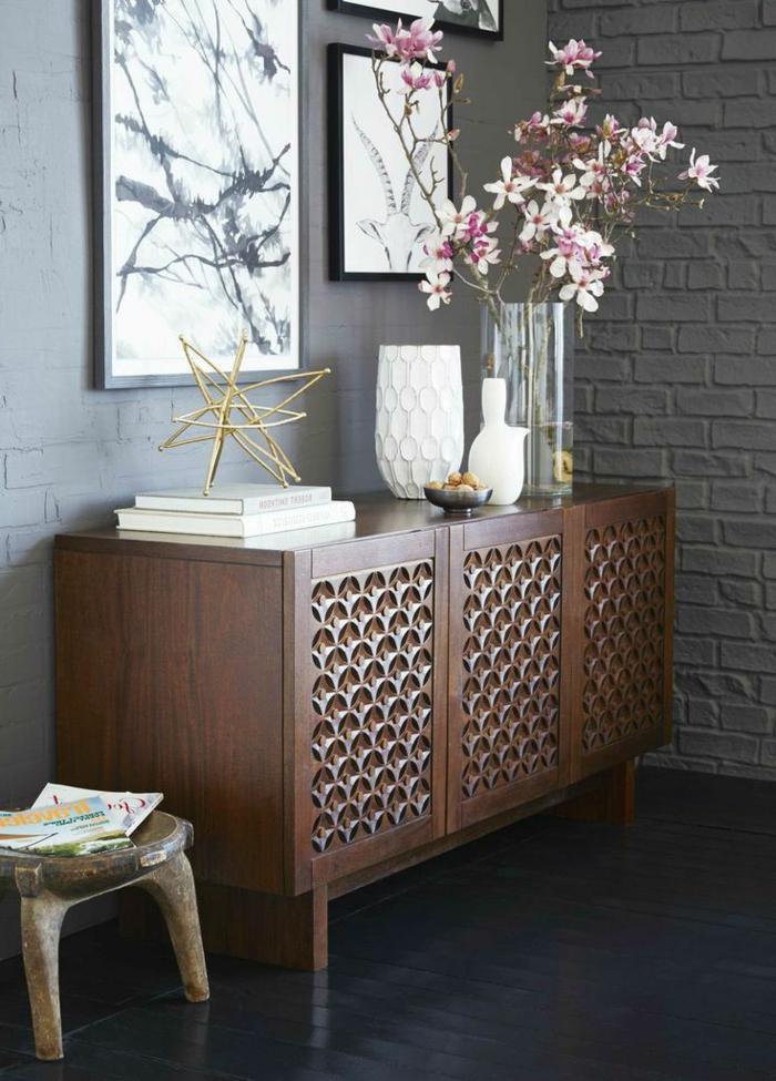 1-meuble-console-en-bois-meuble-d-entrée-sol-en-lin-noir-décoration-mur-gris-idée