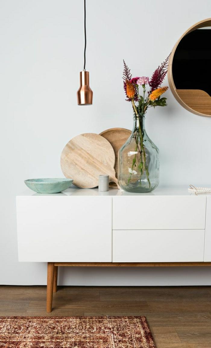 1-meuble-d-appoint-en-bois-commode-blanc-décoration-sol-en-parquet-foncé-tapis