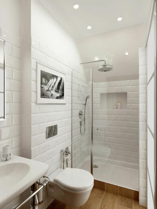 Une salle de bain sous pente ou sous combles en 52 photos for Petite chambre avec salle de bain