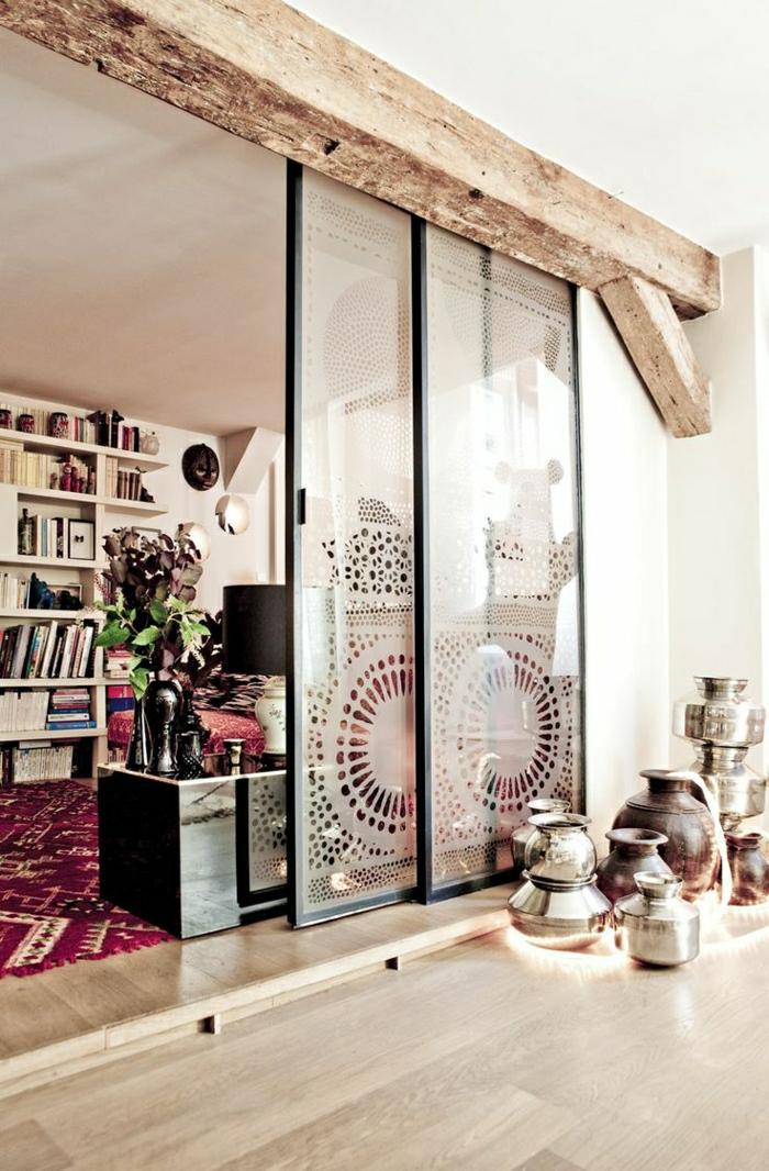 La porte coulissante en 43 variantes magnifiques for Porte coulissante transparente