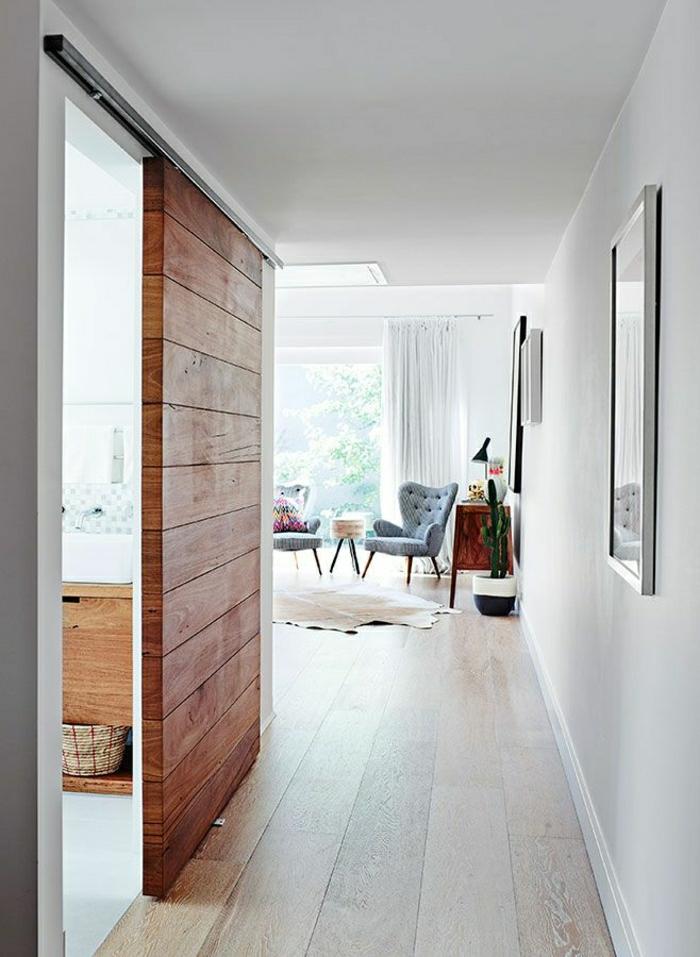 La porte coulissante en 43 variantes magnifiques for Porte a salon