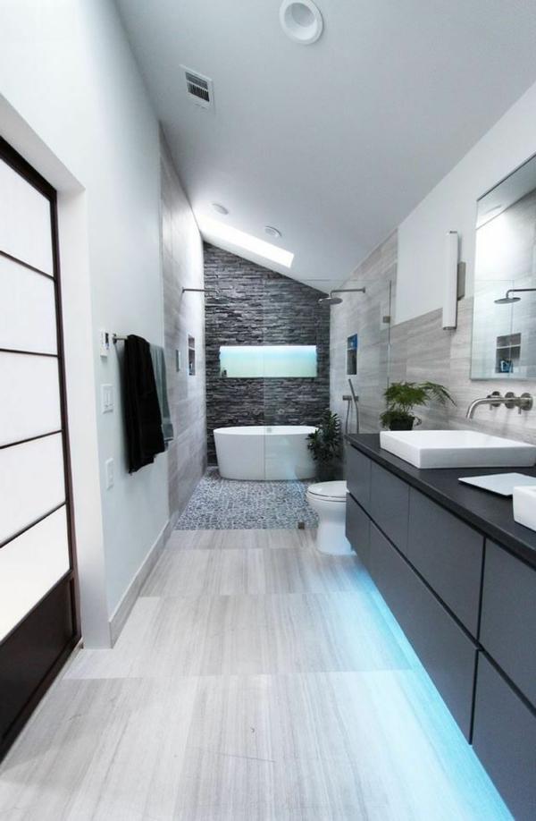 Une salle de bain sous pente ou sous combles en 52 photos for Deco sous pente