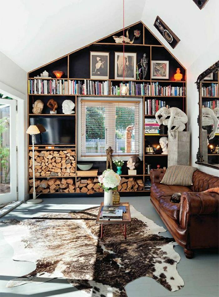 1-salon-en-cuir-meubles-en-cuir-canapé-en-cuir-tapis-en-cuir-animal-mur-noir