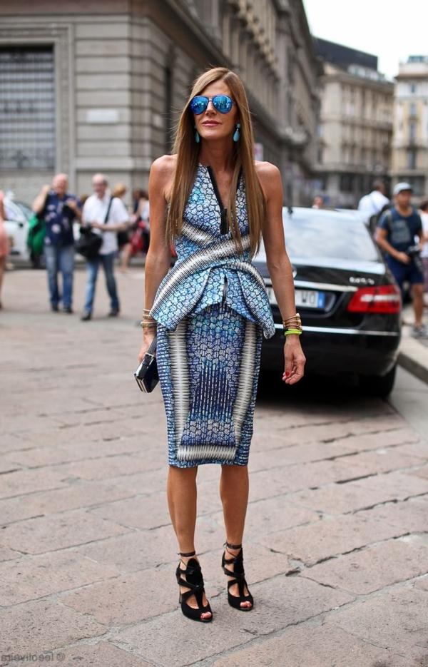 1-sandales-talons-hauts-femme-mode-robe-mi-longue-bleu-blanc