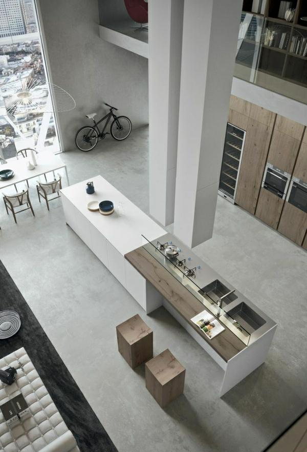 1-studio-vaste-aménagement-industriel-meuble-en-bois-bar-chaise-de-bar