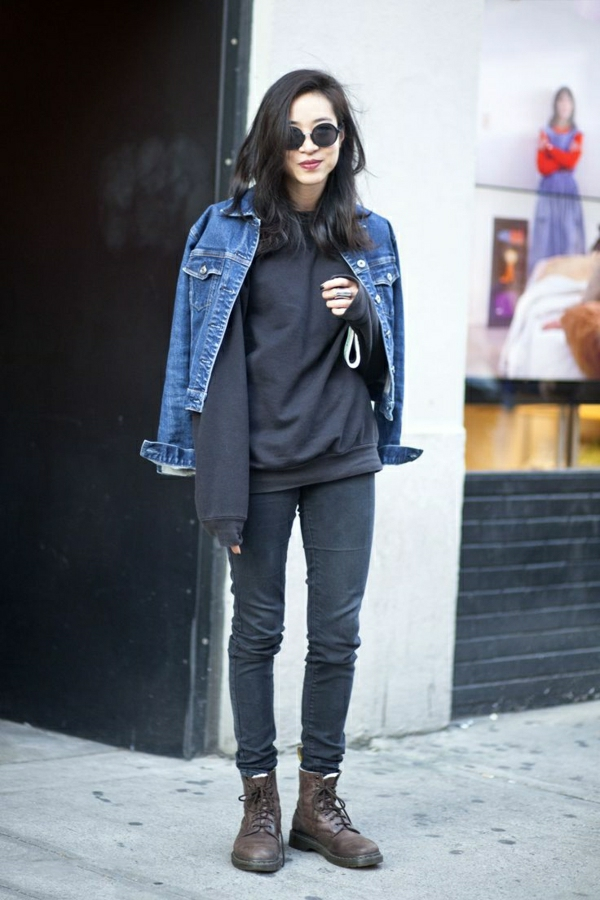 1-sweatshirt-noir-femme-denim-noir-jean-veste-en-denim