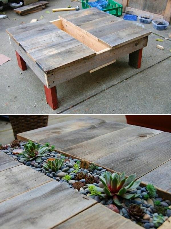 50 id es pour une table basse avec palette - Fabriquer une table basse originale ...