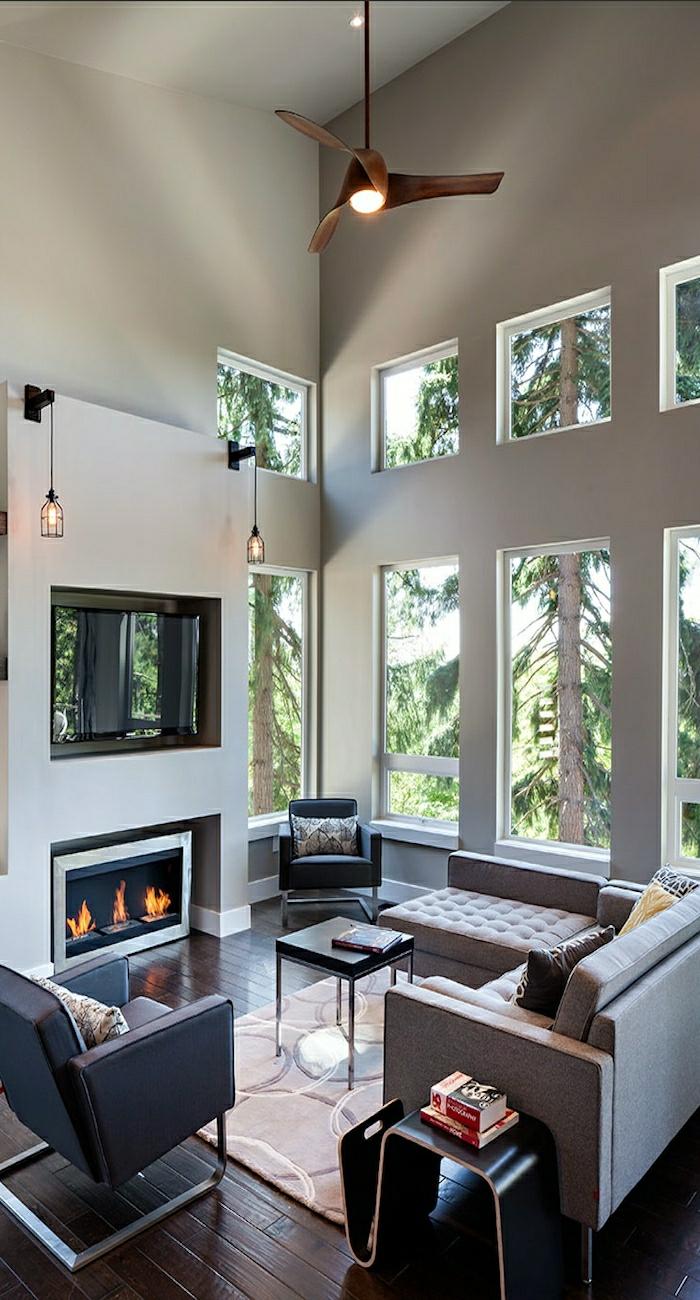 le ventilateur de plafond toujours la mode. Black Bedroom Furniture Sets. Home Design Ideas