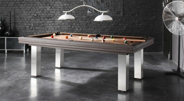 La table billard convertible une solution jolie et for Salon qui se transforme en chambre