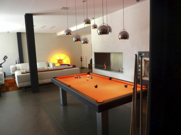 La table billard convertible une solution jolie et pratique pour la salle d - Table de salon billard ...