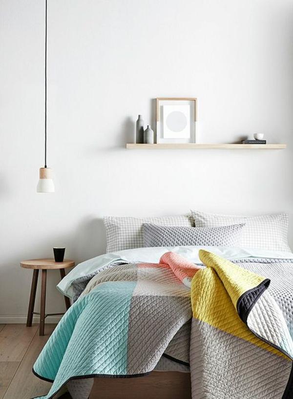 Boutis-couvre-lit-chambre-à-coucher-coussins-ambiance-moderne