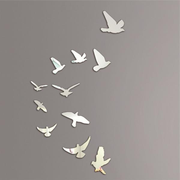 Idee-creative-miroir-mur-stickers-des-oiseaux