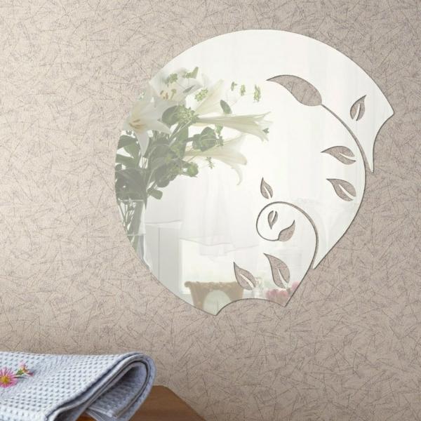 Idee-creative-miroir-mur-stickers-fleurs