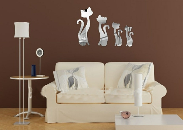 Idee-creative-miroir-mur-stickers-les-chats