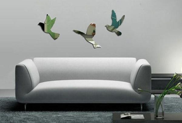Idee-creative-miroir-mur-stickers-oiseaux