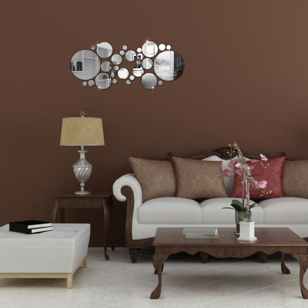 les stickers miroir une id e cr ative pour la d coration mural. Black Bedroom Furniture Sets. Home Design Ideas