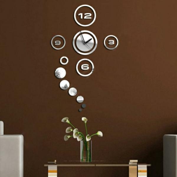 Miroir-design-stickers-muraux-idées-horloge