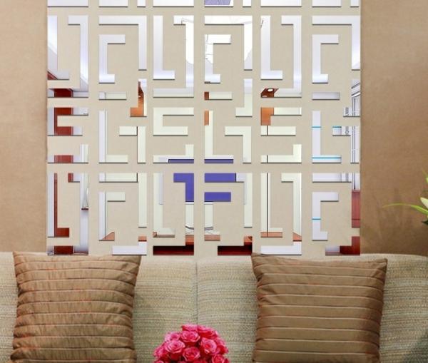 Miroir-design-stickers-muraux-idées-labirinte