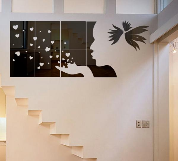 Miroir-design-stickers-muraux-idées-noir-coeur