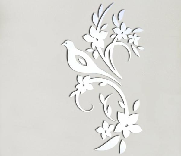 Miroir-design-stickers-muraux-idées-oiseaux