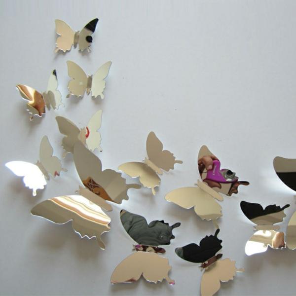 Miroir-design-stickers-muraux-idées-papillons-idee
