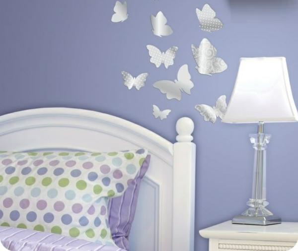 Miroir-design-stickers-muraux-idées-papillons