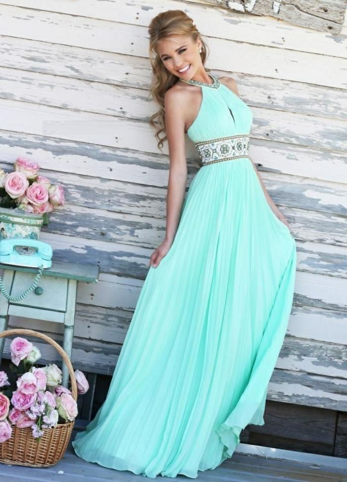 Robe-témoin-marriage-robe-de-soiree-longue-bleue