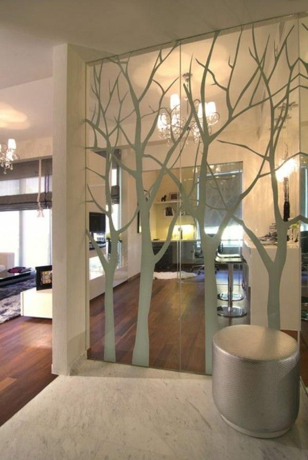 Sticker-mural-miroir-reflection-arbres-salon