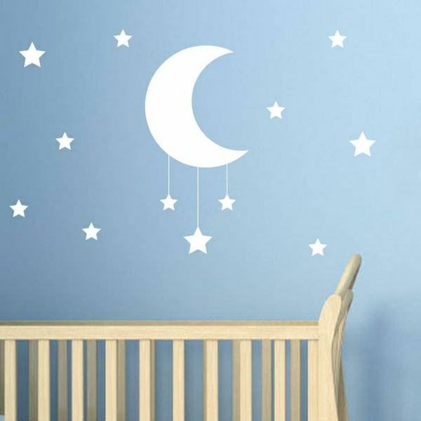 Stickers-miroir-decoration-murale-chambre-enfant-la-lune-etoiles