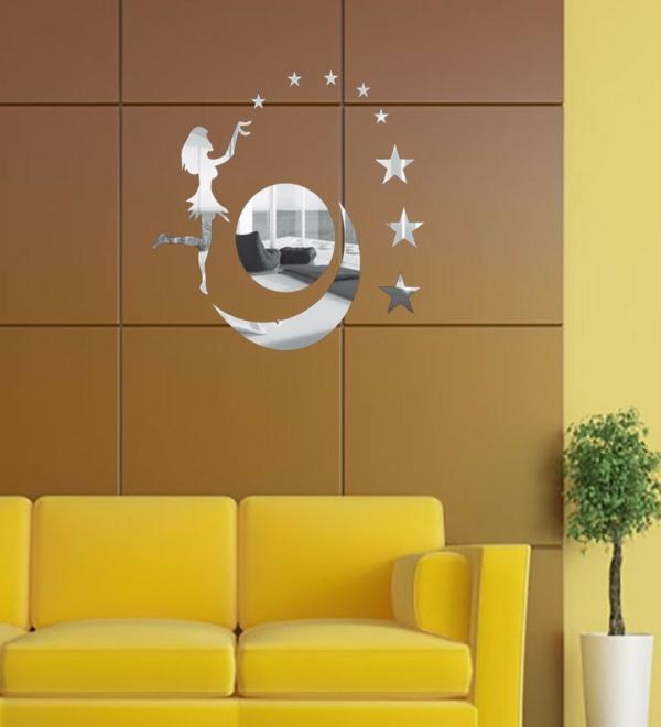 Les stickers miroir une id e cr ative pour la d coration for Decoration murale etoile