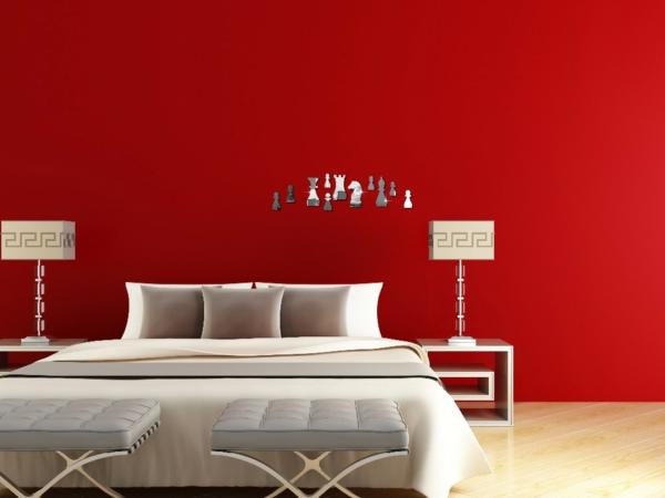 Stickers-miroir-decoration-murale-rouge-figures
