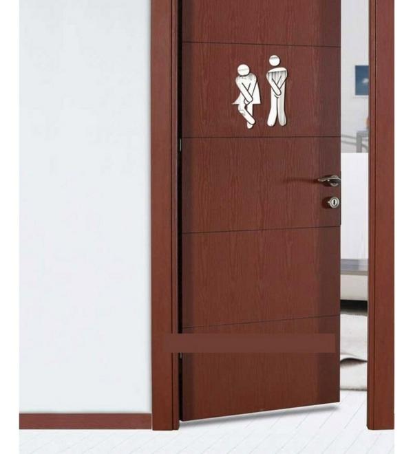 Les stickers miroir une id e cr ative pour la d coration - Deco murale salle de bain ...