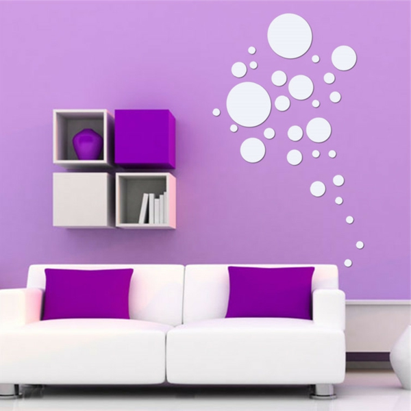Les stickers miroir une id e cr ative pour la d coration for Decoration murale photo