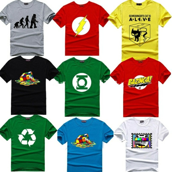 The-Big-Bang-Theory-T-shirt-Sheldon-Cooper-super-hero-font-green-lanthern-idee-cadeau