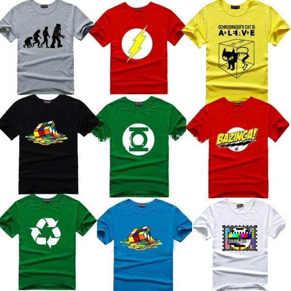The-Big-Bang-Theory-T-shirt-Sheldon-Cooper-super-hero-font-green-lanthern-idee-cadeau