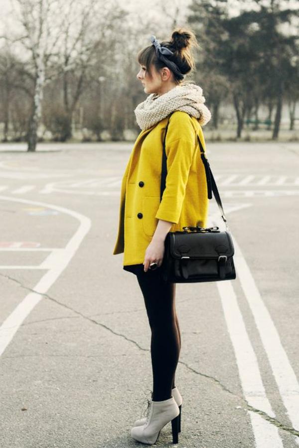 bandeau-pour-cheveux-fille-street-style-veste-jaune