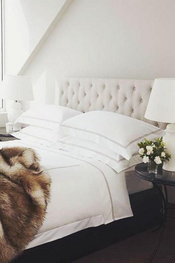 Chambre de nuit moderne blanche id es de d coration et de mobilier pour la conception de la maison for Chambre de nuit moderne