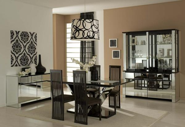 D co salle a manger meuble blanc for Meuble salle a manger noir