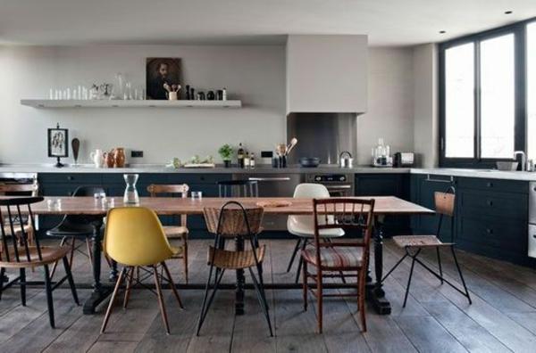 chaise-salle-a-manger-decoration-table-longue