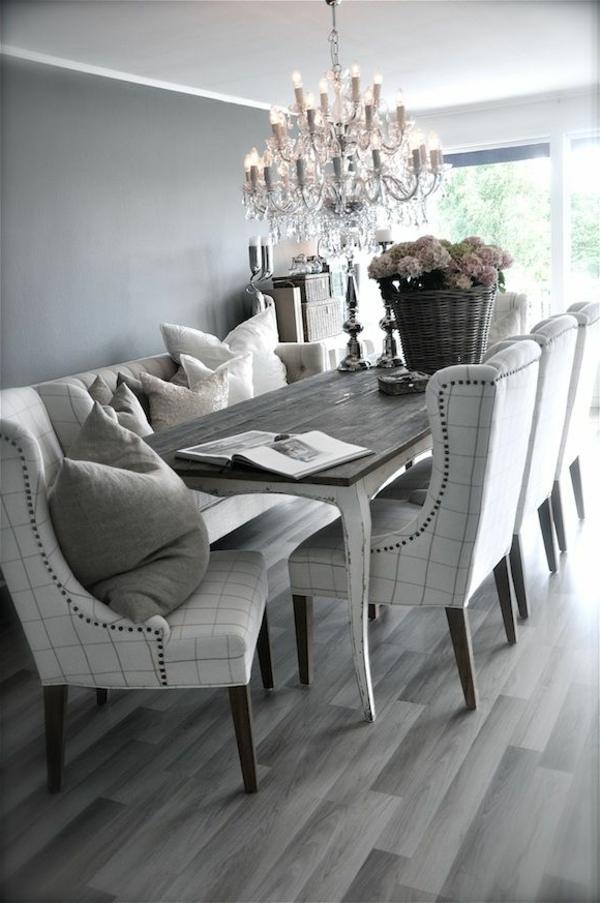 chaises-de-salle-à-manger-deco-luxe-gris-lustre-baroque-fleurs
