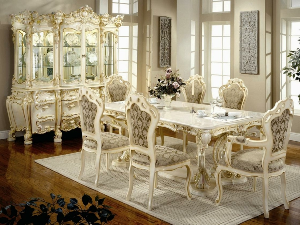 Les chaises de salle manger 60 id es for Table de salle a manger style baroque