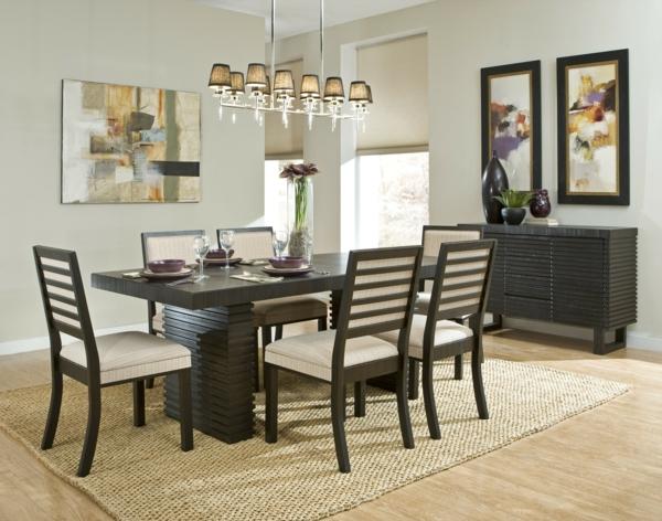 chaises-salle-a-manger-design-table-noire