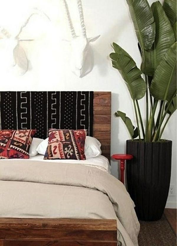 chambre-a-coucher-cocooning-plante-verte-linge-coloré-déco-mural-ambiance-cocooning