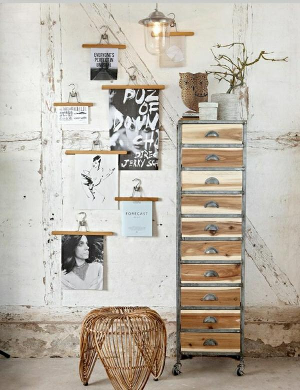 chambre-insolite-aménagement-industriel-meuble-en-bois-et-fer