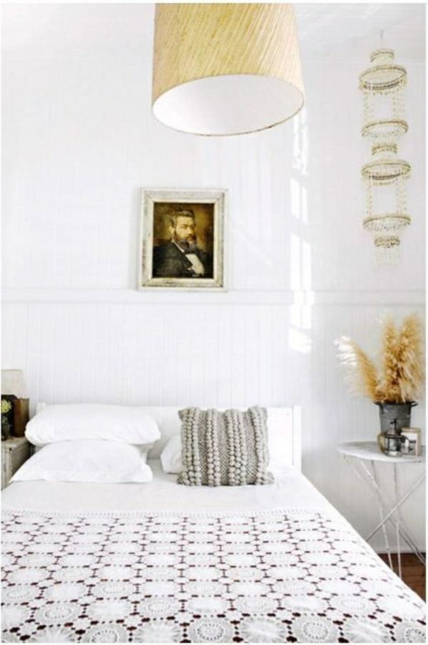 ... -lit-couverture-de-lit-lustre-suspendu-table-de-chevet-deco-cocooning