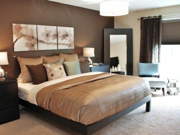 chambre-zen-chambre-à-coucher-en-marron-et-beige