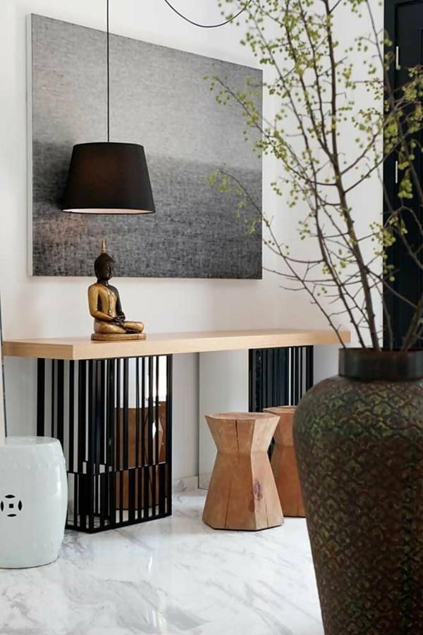 chambre-zen-lampe-pendante-noire
