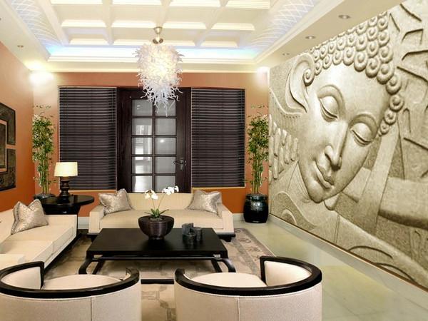 chambre-zen-panneau-bouddha-fauteuils-ronds