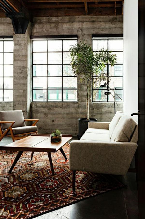chambre-zen-sofas-scandinces-murs-industriels
