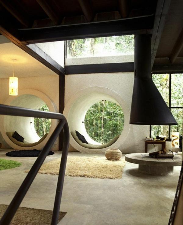 chambre-zen-un-intérieur-original-fenêtres-rondes